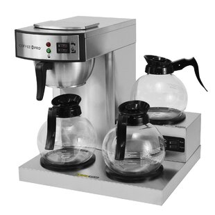 10-Cup 3 Burner Low Profile Commercial Coffee Maker