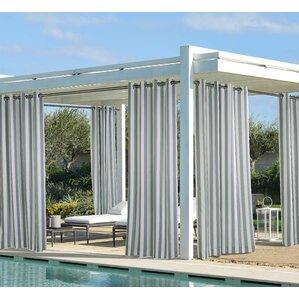 gonzalo outdoor decor costal stripe semisheer grommet curtain panels set of 2