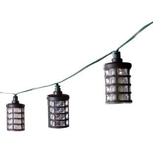 Smart Solar Solar 20-Light 14.75 ft. Lantern String Lights