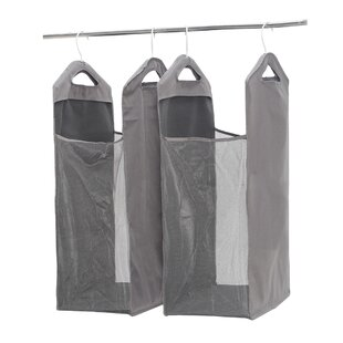Best Price Hanging Mesh Laundry Hamper (Set of 2) By Rebrilliant