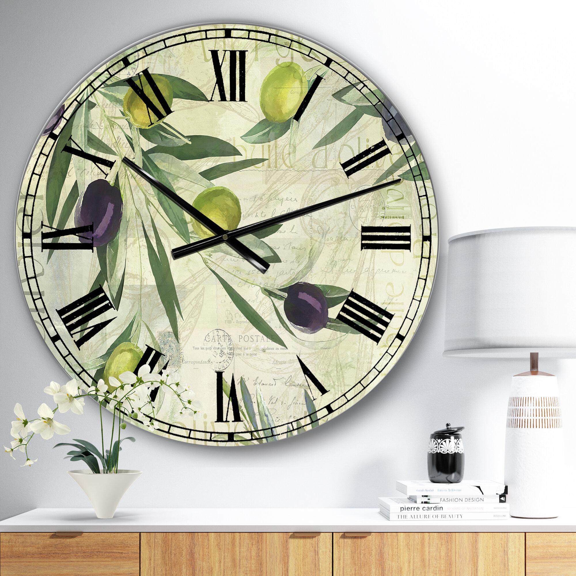 East Urban Home Oversized Olives De Nice Wall Clock Wayfair