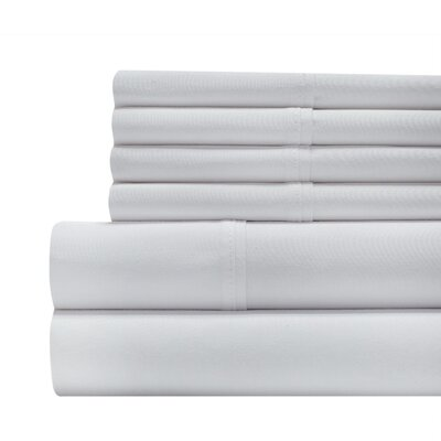 Tibuh 800 Thread Count Sheet Set Size: King, Color: White