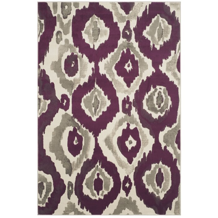 Deasia Ivory Purple Area Rug Reviews
