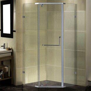 35 x 75 Pivot Semi-Frameless Shower Door by Aston