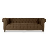 Sawyer Microfiber Chesterfield 90 Rolled Arm Sofa by House of Hampton®