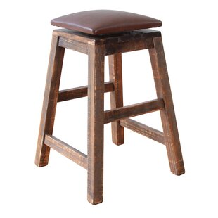 Stogner Swivel Bar Stool (Set of 2) Millwood Pines