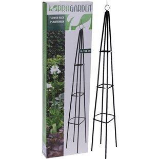 Crites Standing Flower Rack Metal Obelisk Trellis Image