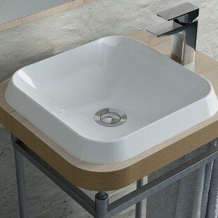 Rossini Polymarble Square Vessel Bathroom Sink Calma