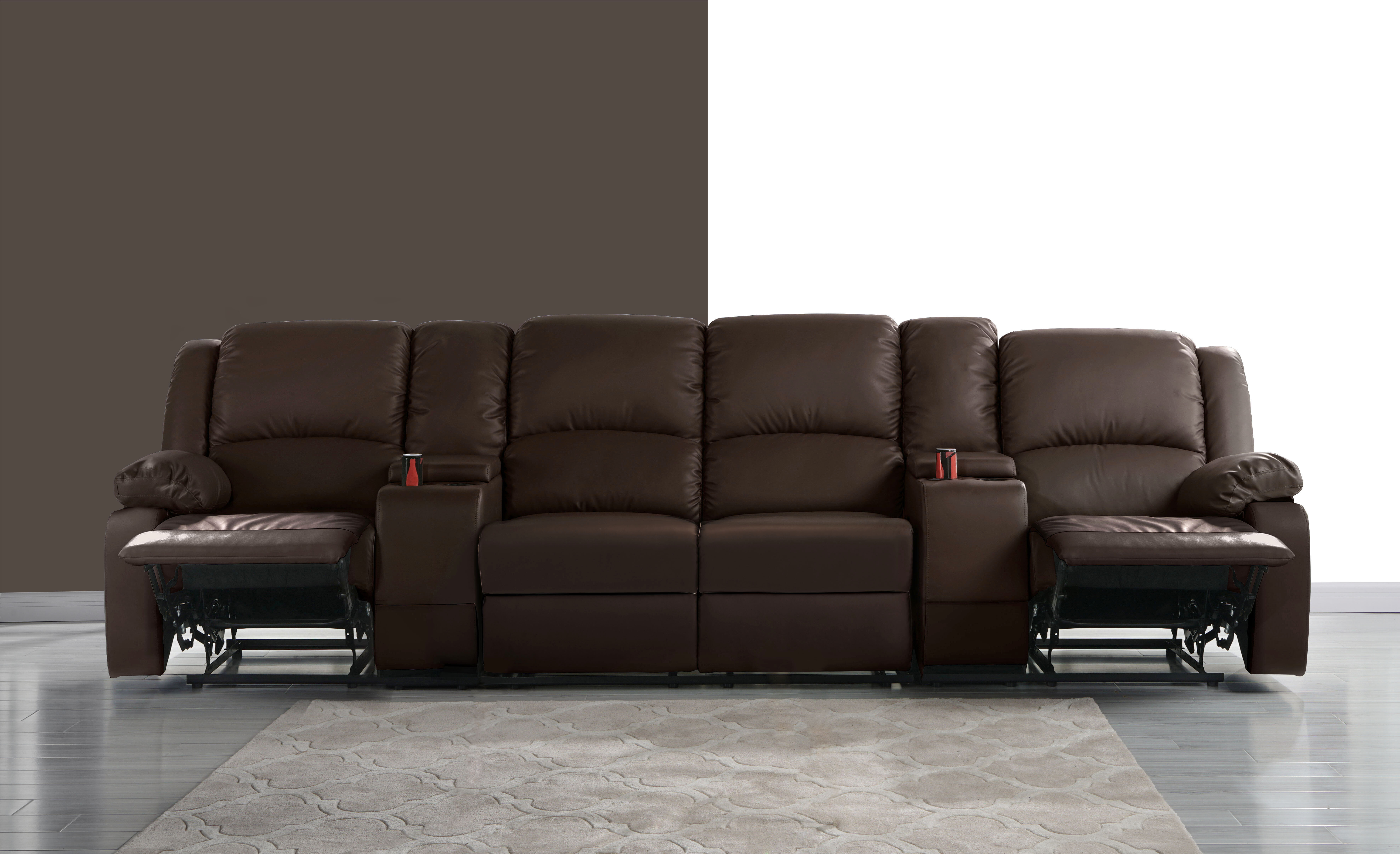 Merveilleux Red Barrel Studio 4 Seat Home Theater Sofa With Cup Holder | Wayfair