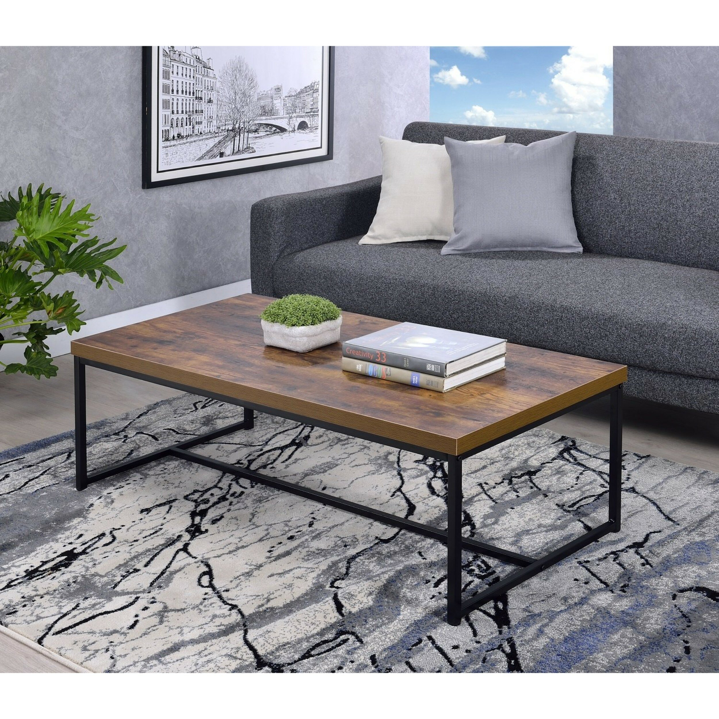 Devia Metal Framed Coffee Table