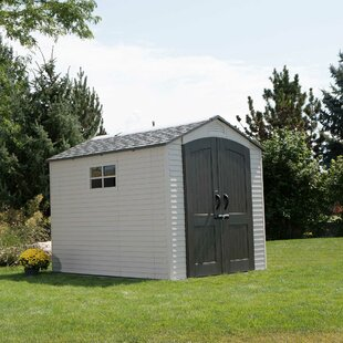 7 Ft. W X 9 Ft. D Apex Plastic Shed By Lifetime