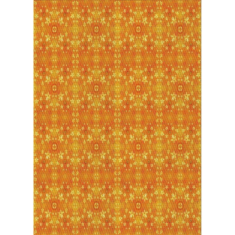 East Urban Home Amerina Floral Wool Orange Area Rug Wayfair