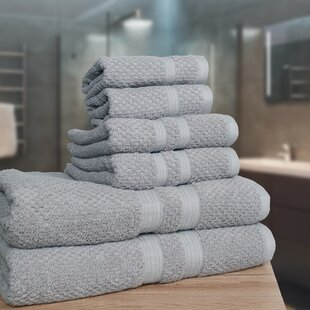 Leontion Deluxe 6 Piece 100% Cotton Towel Set