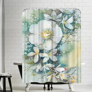 Victoria Nelson Floral Blossom Single Shower Curtain