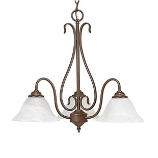 Shop For Bridgeforth 3-Light Shaded Chandelier By Charlton Home
