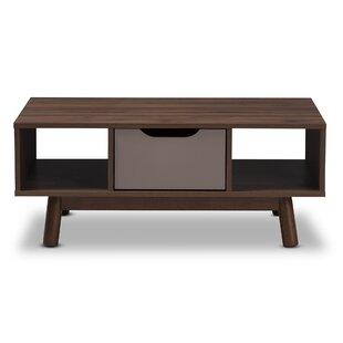Hilson Mid Century Modern Wood Coffee Table