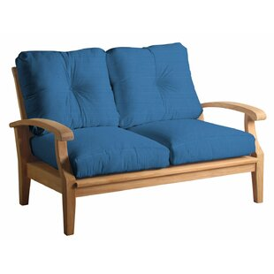 Lowery Teak Loveseat with Sunbrella Cushions