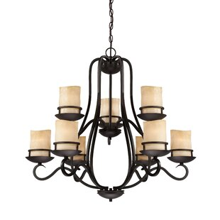 Designers Fountain Lauderhill 9-Light Shaded Chandelier