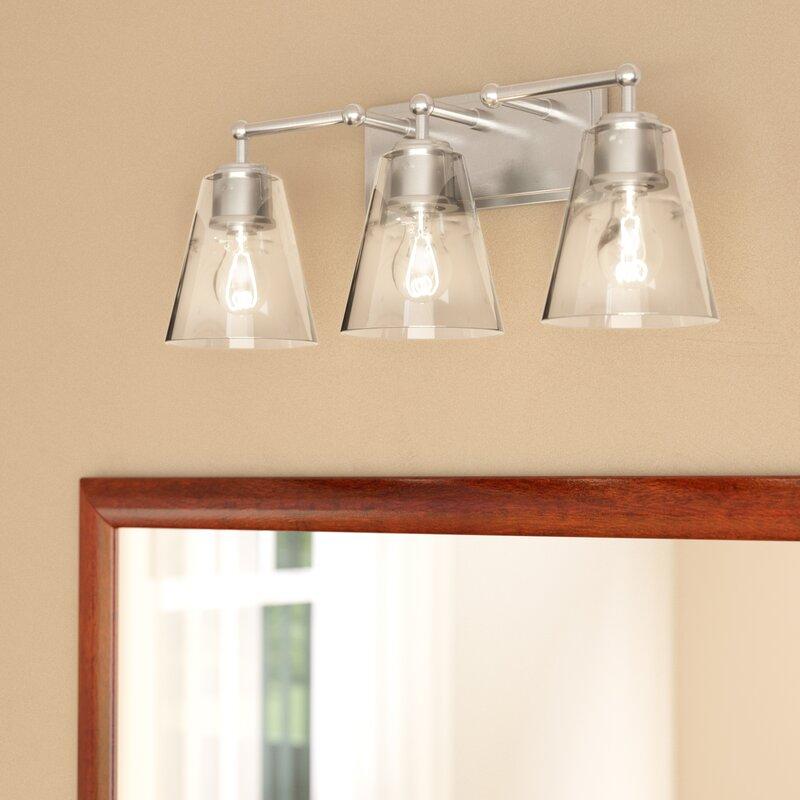 Gallego 3 Light Glass Shade Vanity Light