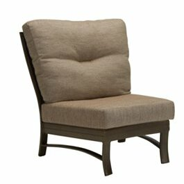 Ravello Crescent Module Patio Chair With Cushions by Tropitone Great Reviews