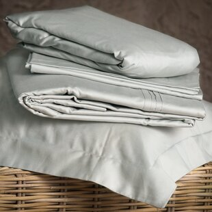 Asay 800 Thread Count Solid Color 100% Cotton Sheet Set by Canora Grey Comparison