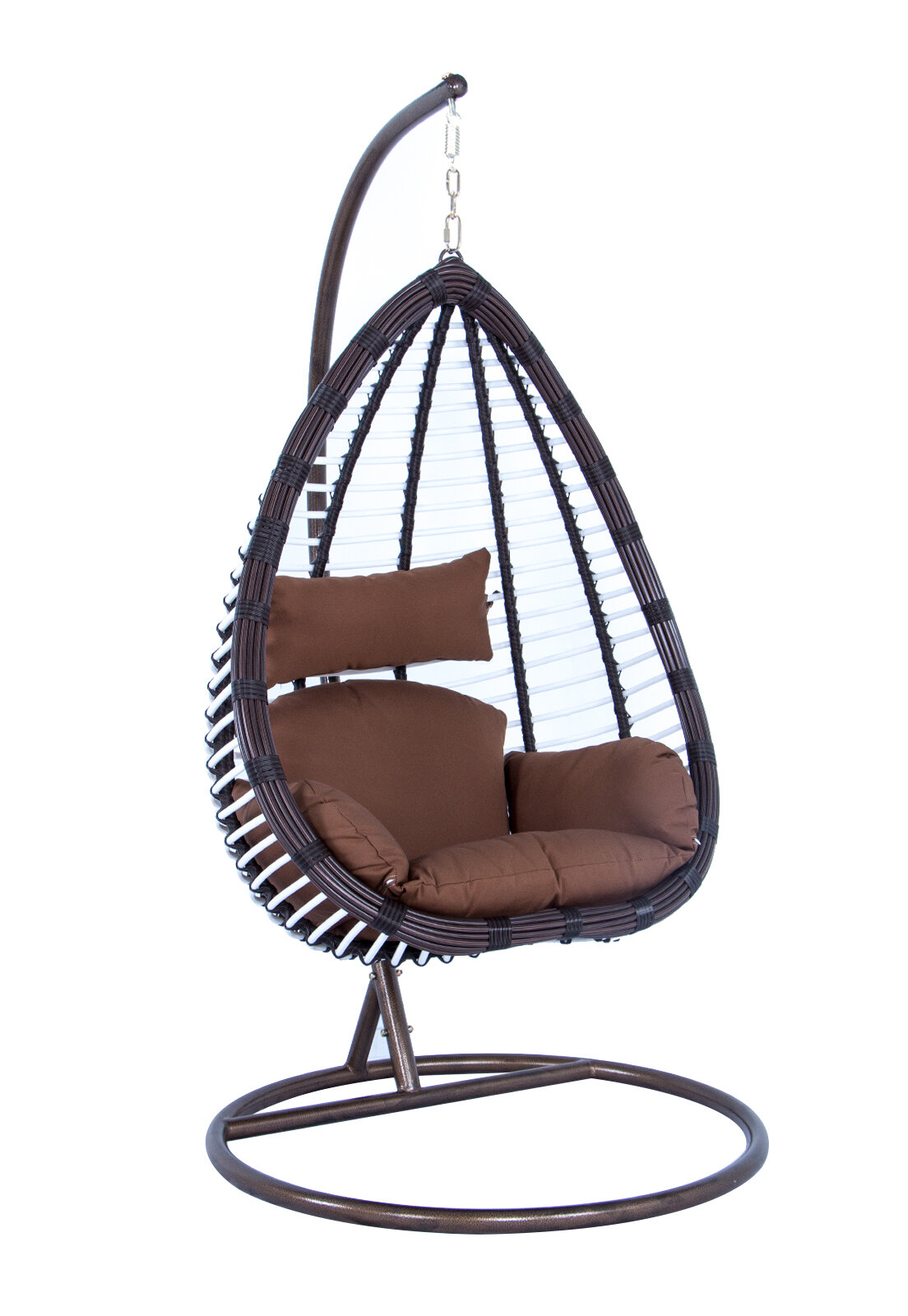 Picture of: Bayou Breeze Schumacher Wicker Hanging Egg Swing Chair With Stand Wayfair