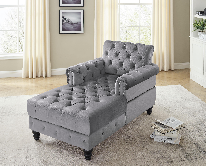Charlton Home Genie Chaise Lounge Wayfair