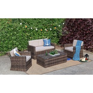 4 Piece Sofa Set With Cushions by Baner Garden Cool