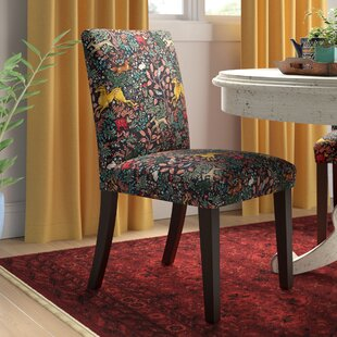 Bowmont Linen Upholstered Side Chair by World Menagerie 2019 Online