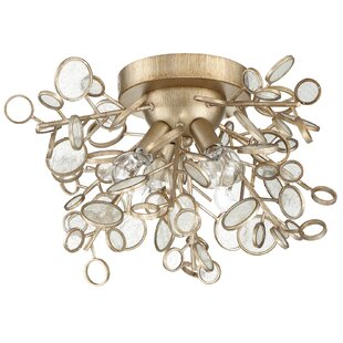 Price comparison Fields 4-Light Flush Mount By Ivy Bronx