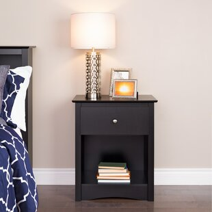Silvers Tall 1 Drawer Nightstand