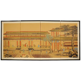 Bloomsbury Market Rowlett Dynasty Courtyard 4 Panel Room Divider