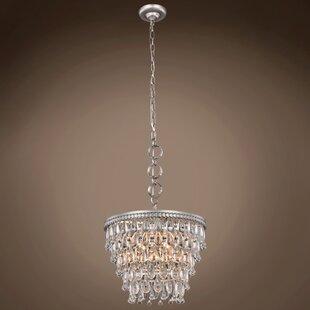 House of Hampton Florrie Teardrop 4-Light Crystal Chandelier