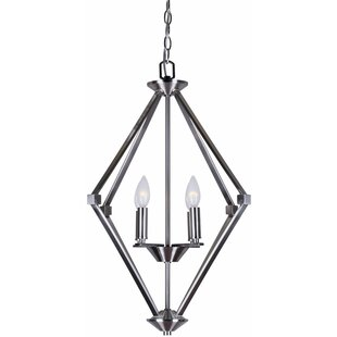 Magdalene 4-Light Geometric Chandelier by Charlton Home