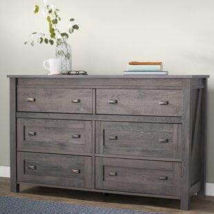 Gracie Oaks Cleveland 6 Drawer Double Dresser