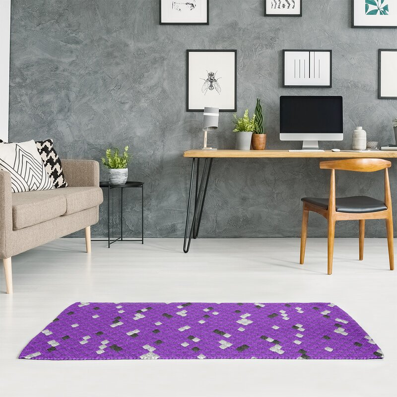 East Urban Home Mcguigan Snake Scales Purple Area Rug Wayfair