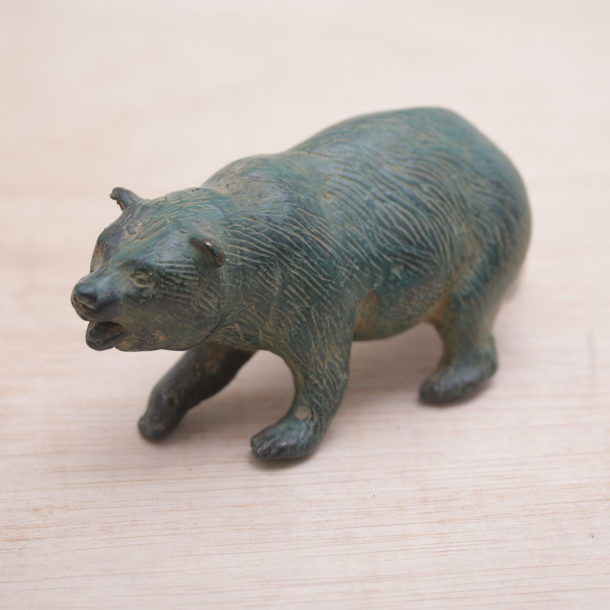 World Menagerie Continuum Brave Bear Bronze Indonesia Figurine Wayfair