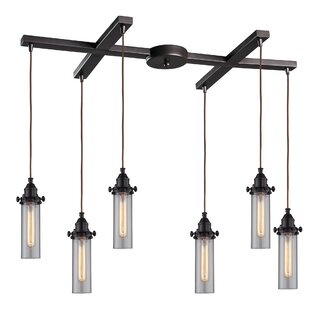 Rawlings Flange Top 6-Light Cluster Pendant by 17 Stories