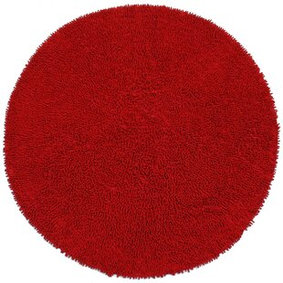 Baugh Shag Chenille Red Area Rug by Ebern Designs
