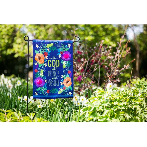 With God All Things are Possible garden flag