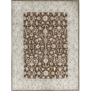 Best Reviews One-of-a-Kind Ziegler Hand-Knotted Wool Brown/White Indoor Area Rug By Bokara Rug Co., Inc.