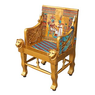 Design Toscano King Tutankhamen's Egyptian Throne Armchair