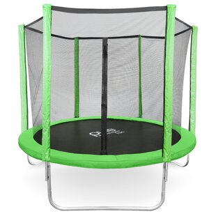 Pure Fun Dura-Bounce 8' Round Trampoline with Safety Enclosure