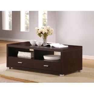 Ebern Designs Flemingdon Wooden Coffee Table with Storage