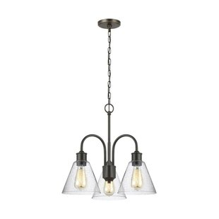 Breakwater Bay Daniella 3-Light Shaded Chandelier