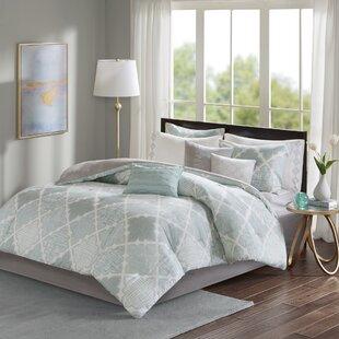 Alcott Hill Harding Cotton Sateen Reversible Comforter Set