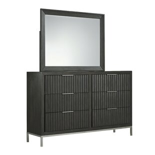 Wrought Studio Stogner 6 Drawer Double Dresser With Mirror Image