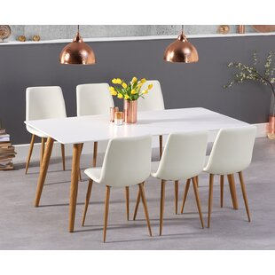 Review Curie Dining Set With 6 Chairs