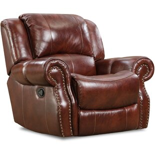 Darby Home Co Additri Leather Manual Rocker Recliner