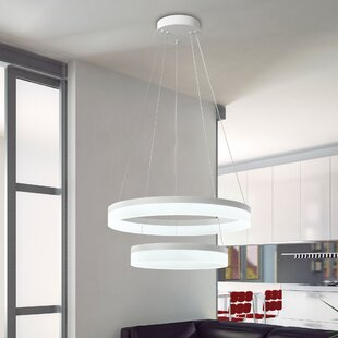 Homestown 2-Light LED Geometric Chandelier by Orren Ellis